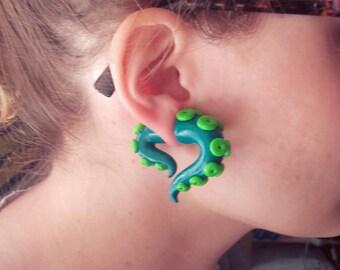 Fake tentacle gauges fake plugs creepy cute
