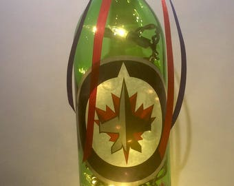 Winnipeg Jets 750 ml. Lighted Wine Bottle
