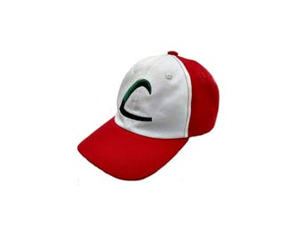 Children's Pokemon Costume Ash Ketchum Cotton Baseball Cap - Ages 5-11