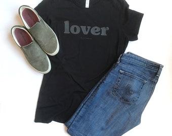 Lover, Slim Fit Tee, Women's Graphic Tee, Female Shirt, Adventure Tee, Kindness Tee, Be Kind Tee, Trip Tee, Ladies Tee, Love Over Hate