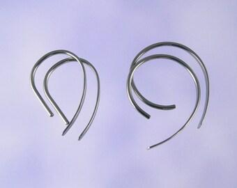 Niobium earrings: 18 gauge Apostrophe set of 2 pairs