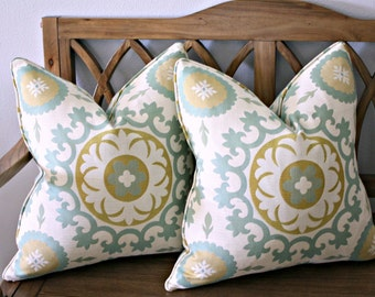20 inch Pillow Covers  Piped Pillows Designer Pillow Covers