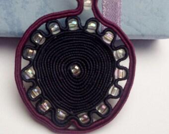 handmade soutache pendant