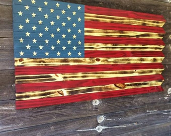 Rustic Wood Flag, Rustic American Flag, Wooden American Flag, American Flag, Wood American Flag, 4th of July