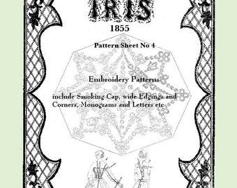 Iris Fashion Pattern 1855, No 4,  full size reprint