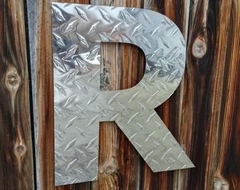 Aluminum Diamond-plate Letter
