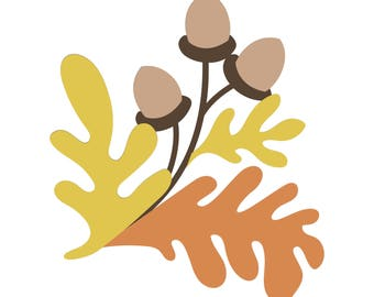 Fall Acorns SVG cut file