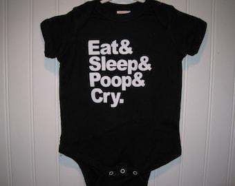 Baby Onesie // Eat, Sleep, Poop, Cry