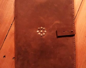 Book cover, Notebook cover, Agenda, Leather cover, Notebook, Oil tanned leather cover,