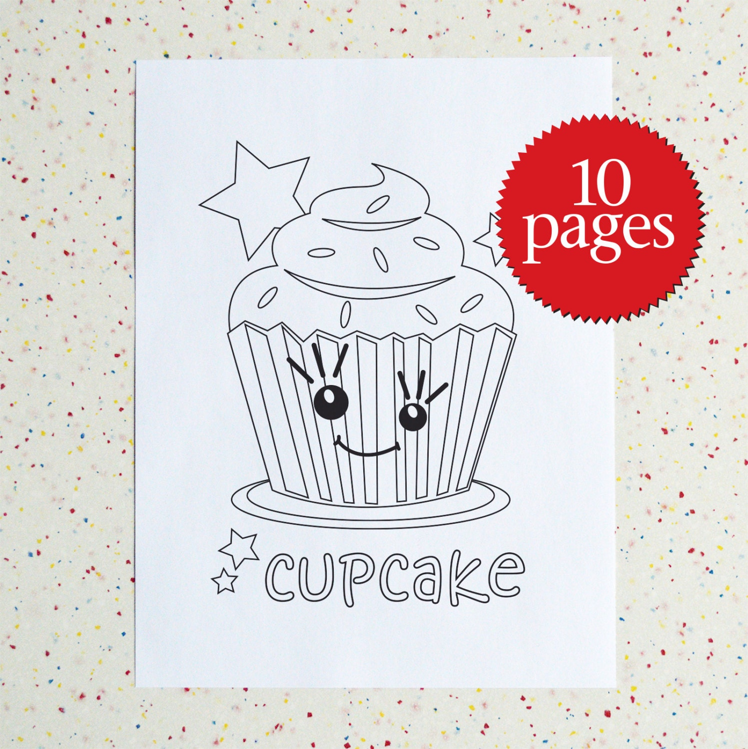 Colouring Pages Sweet Treats printable pdf Downloadable