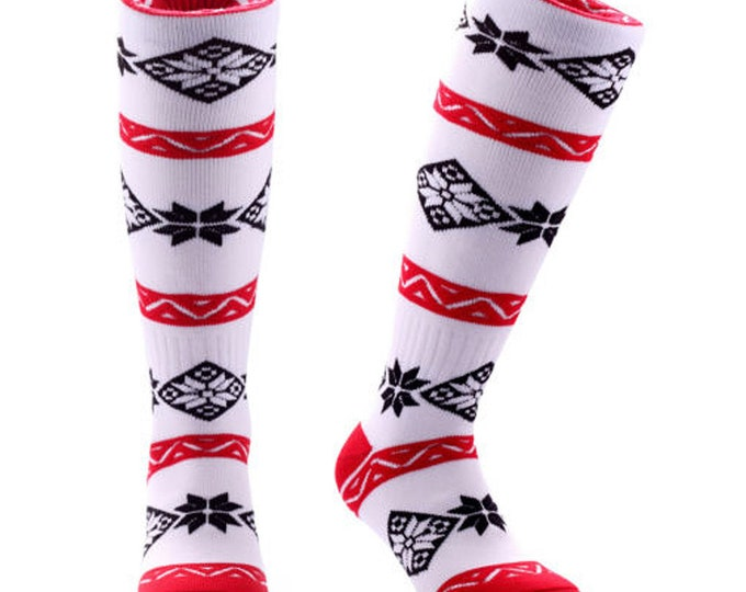 Samson® Christmas Pattern Socks Knee High Thick Ski Snow Stockings Festive Seasonal Winter Thermal Cosy Warm