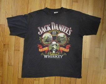 Rare Vintage 1989 Jack Daniel's Old Time Sour Mash Tennesee Whiskey Size 2XL