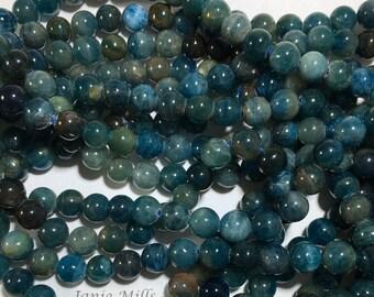 Apatite 6 mm beads pkg of 18