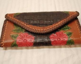 Vintage Prison Made Leather Purse