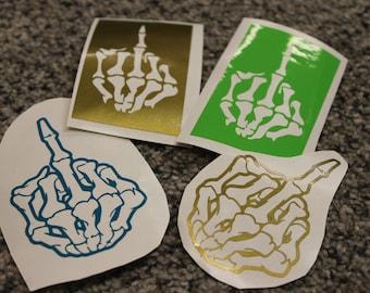 Middle Finger Sticker - Skeleton Middle Finger Sticker - Middle Finger Vinyl - Skeleton Middle Finger Vinyl - Computer Sticker