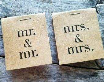 Personalized MINI Flower Seed Packets Wedding Favors Same Sex Wedding Mr. & Mrs. Mr. and Mr. Wedding LGTB Gay Pride Favors Love is Love