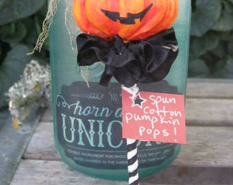 Vintage Halloween Jack o' Lantern - Spun Cotton Ornament