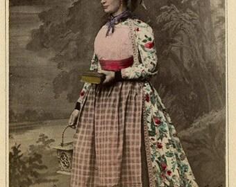 Netherlands ehtnic costume type woman antique photo