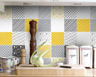 Kitchen backsplash Birch Trees Splashback Tiles Stickers