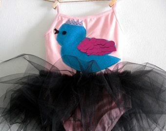 PRINCESS BIRD Leotard Tutu - Bird Tutu - Personalized Tutu  - Birthday Tutu