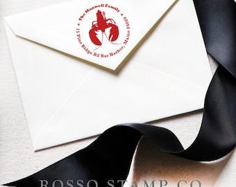 Custom Stamp - Lobster Return Address Stamp - Personalized Address Stamp