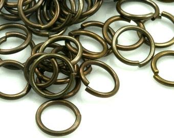 Open jump ring 11 mm 20 gauge( 0,8 mm )  antique brass  jumpring 1120JA-18 1171AB