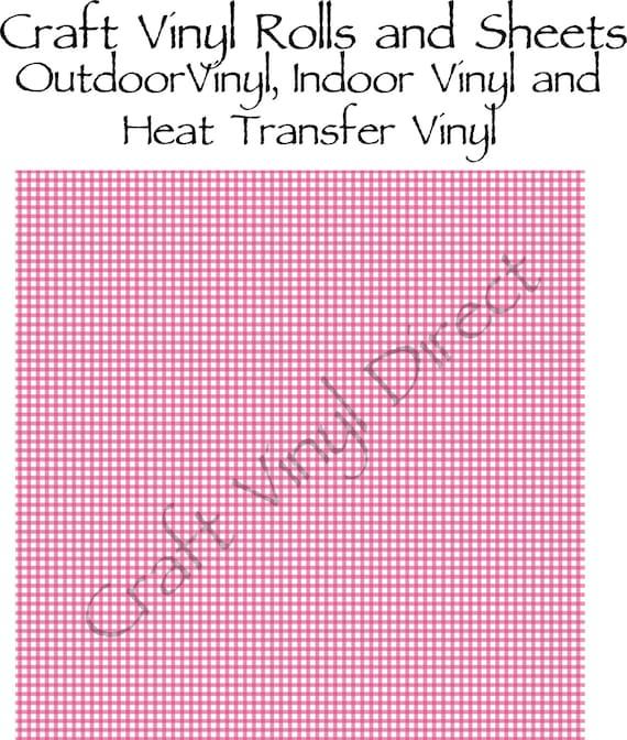 Hot Pink Gingham Craft Vinyl and Heat Transfer Vinyl