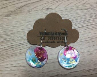 Hand made earrings, ceramic earrings, handmade earrings