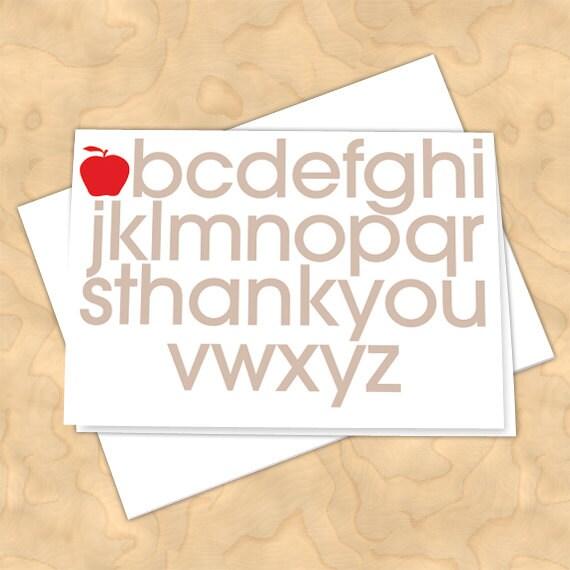 thank you cards, teacher thank you cards, graduation thank you cards, 4x6 notecards, teacher appreciation, NC120