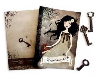 Once Upon a Time (Il Etait une Fois) - A5 Handmade Notebook