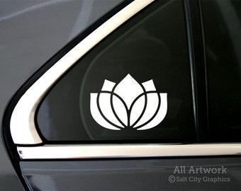 Lotus Flower Sticker - Lotus Flower Decal - Vinyl Sticker Vinyl Decal - Car Window Decal, Bumper Sticker, Laptop Sticker