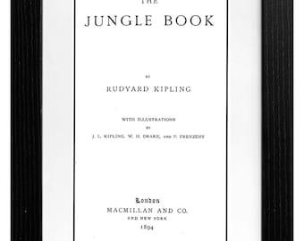 Jungle Book, Rudyard Kipling, A5, First edition, INSTANT DIGITAL DOWNLOAD, Book, Print, Wall art, printable, pdf, Vintage, Oldie, mowgl, kaa