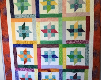 Batik Variety Quilt, Quilts for Sale, Handmade Quilts, Homemade Quilts, Quilts for Gifts, Mothers Day Quilts