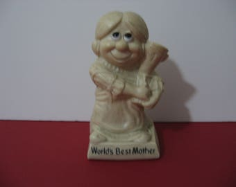 Vintage 1970 R.W. Berries - World's Greatest Mother - Figurine