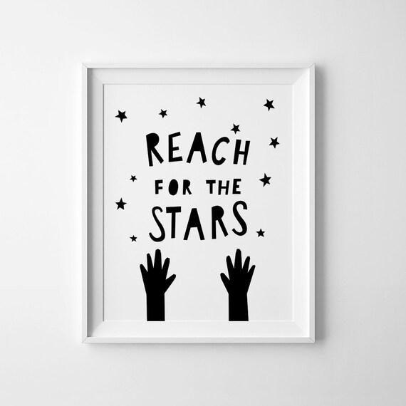 Reach for the stars nursery art digital print Kids room
