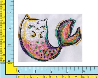 Queen of the Sea Merkitty Embroidery File Instant Download  4x4 and 6x6