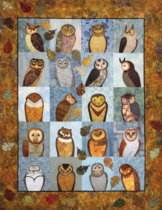 Outstanding Owls Applique Quilting Pattern Book Owl : owl quilts patterns - Adamdwight.com