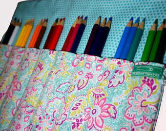 Personalized Pencil Case for Colored Pencils, Mothers Day Gift