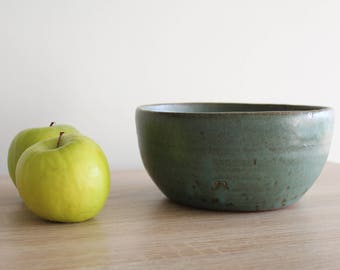 Pottery  Bowl, Stoneware Bowl, Turquoise blue Handmade bowl, Keramik Bowl, Handmad Pottery Ceramic Bowl, Salad/Fruits/Pasta bowl