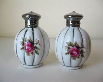 Moss Rose Porcelain Salt & Pepper Shakers