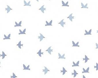 Flock of Birds on White from Dear Stella Design's Cold Comfort Collection