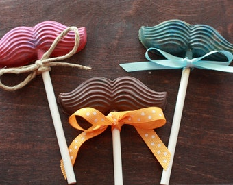 Mustache Crayons, Custom Colors- Great Party or Birthday Favor (12)