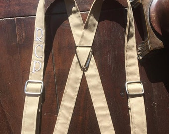 Men's Monogrammed Suspenders, Monogrammed Suspenders, Wedding party Suspenders. Handmade in the USA by Two L Creations
