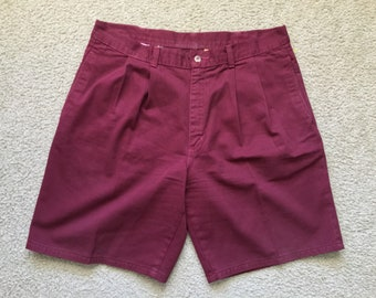 Men's Vintage 90s Duck Head Red Casual Shorts Size 34