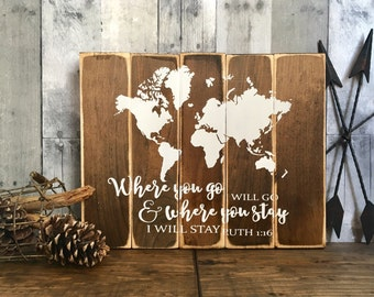 World map decor etsy wood world map gumiabroncs Image collections