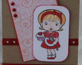 Be Mine Valentine Card Handmade Card I Love You