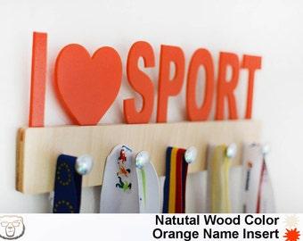 I Love Sport Medal Holder,Sport Medal Holder,Medal Display,Sport Gift,Custom Medal Holder,Sport Gift, Sport Medal Hanger