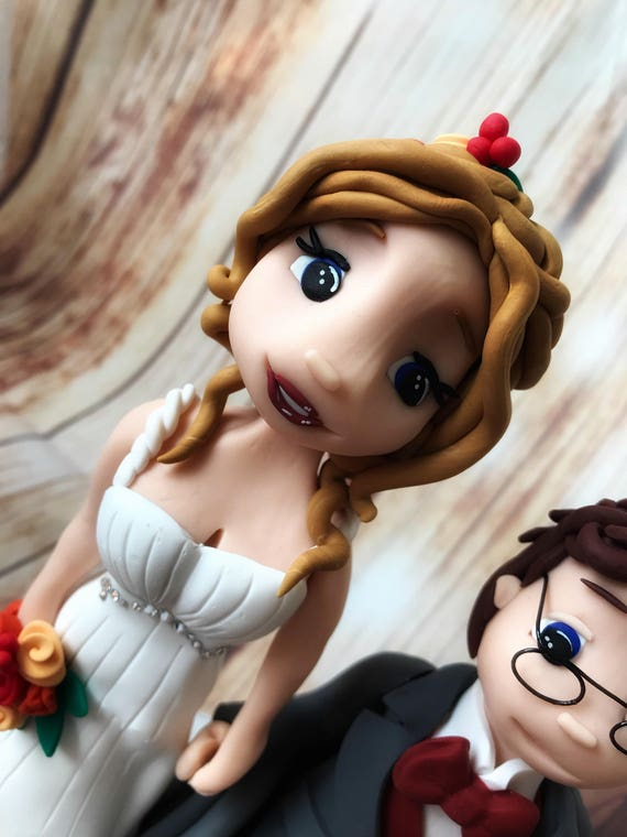 Fully personalised Wedding Cake Topper - wheelchair bride and groom , highly detailed and fully sculpted Keepsake