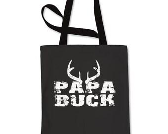 Papa Buck Deer Antlers Shopping Tote Bag