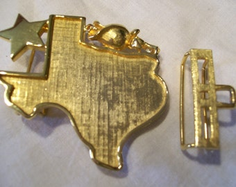 MIMI DI N TEXAS Goldtone Buckle 1981